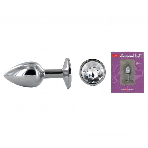Plug métal avec strass Diamond Butt