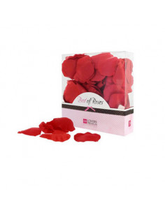 Boîte de pétales de rose rouge