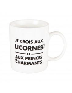 "Mug ""Je crois aux licornes..."