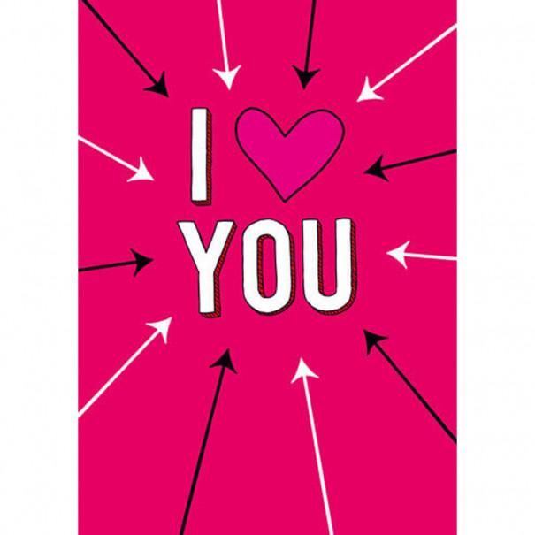 I love you : carte humoristique