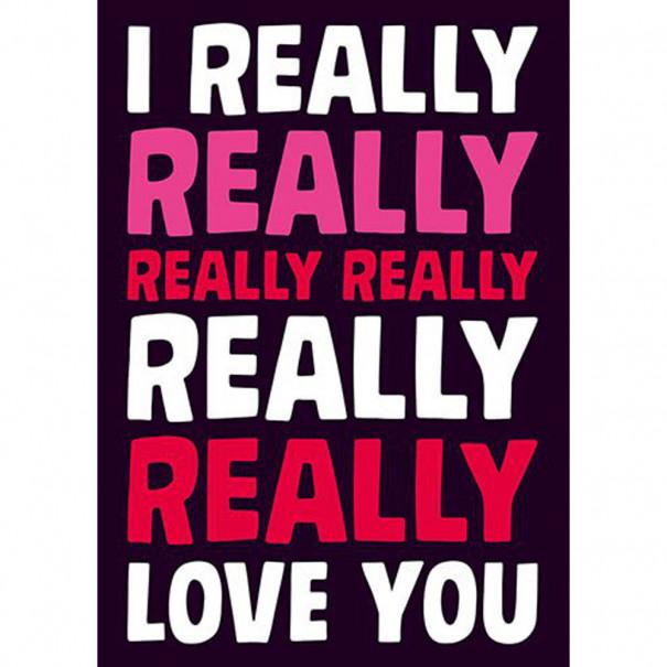 I really really love you : carte...