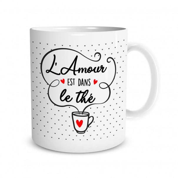 """Mug """"L'amour est dans le thé"""""""