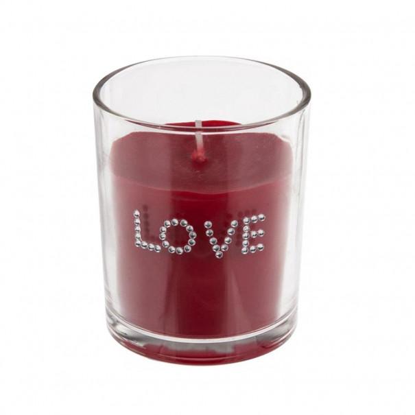 Bougie Love parfum rose