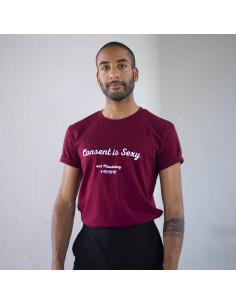 T-Shirt Bordeaux Consent is...